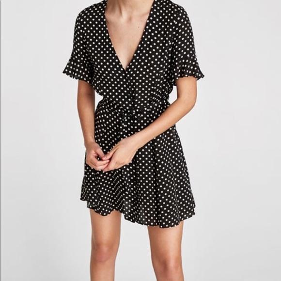 04048e74 Zara Dresses | Polka Dot Dress | Poshmark
